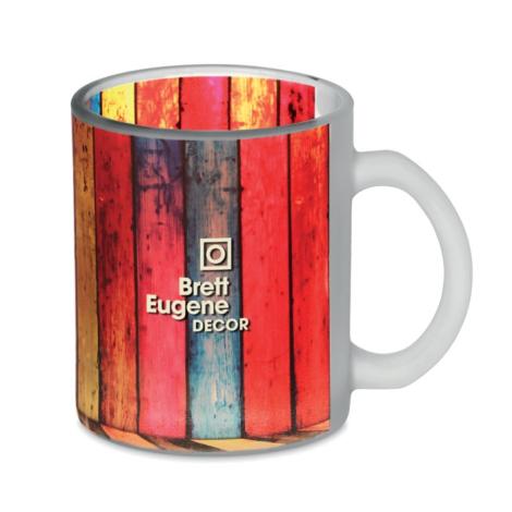 Mug en verre dépoli publicitaire 300 ml - SUBLIMATT