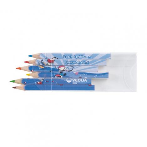 Sets publicitaire - quadri 8.7 cm, 4-6 ou 12 crayons