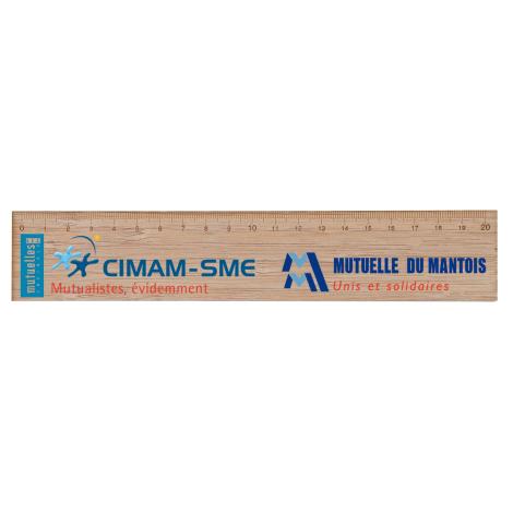 Règle personnalisable en bois 20 cm