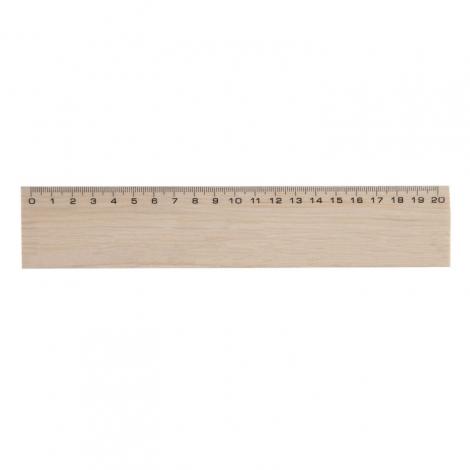 Règle en bois publicitaire, vernis incolore 20 ou 30 cm