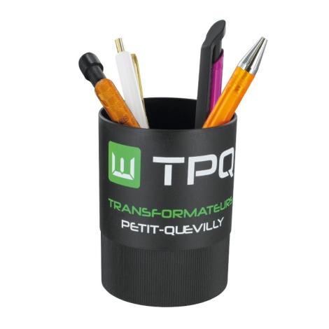 Pot à crayons publicitaire en plastique recyclé