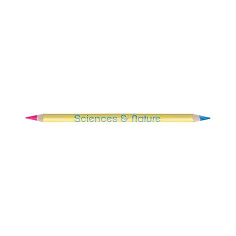 Crayon publicitaire vernis couleur fluo/fluo