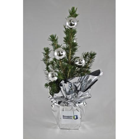 Sapin de Noël décoré personnalisable.