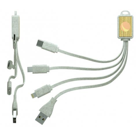 Câble USB en fibre de blé publicitaire - Grain