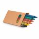 Boîte publicitaire avec 6 crayon de cire
