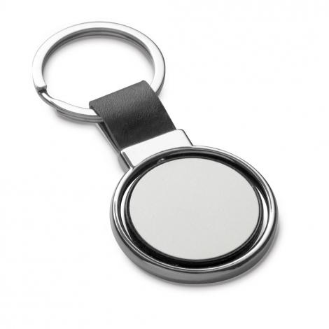Porte clés rond publicitaire en métal