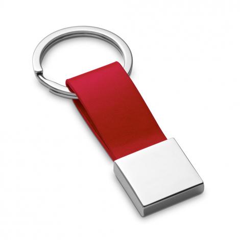 Porte-clés publicitaire en Simili cuir et métal
