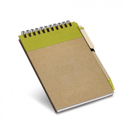 Bloc notes avec stylo publicitaire en carton