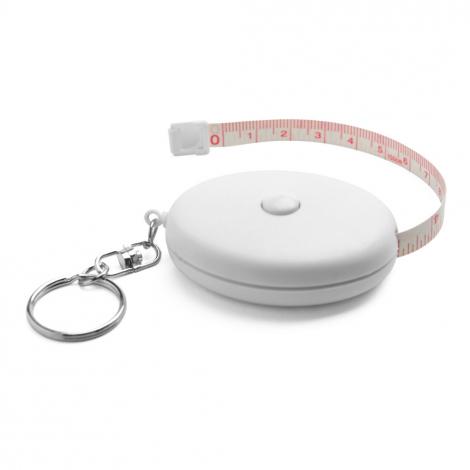 Porte-clés publicitaire avec ruban à mesurer
