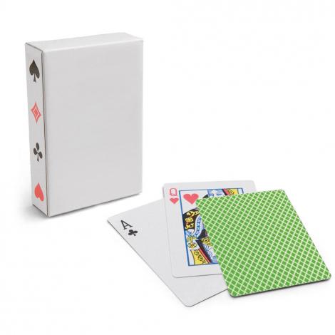 Cartes à jouer publicitaire avec boîte carton
