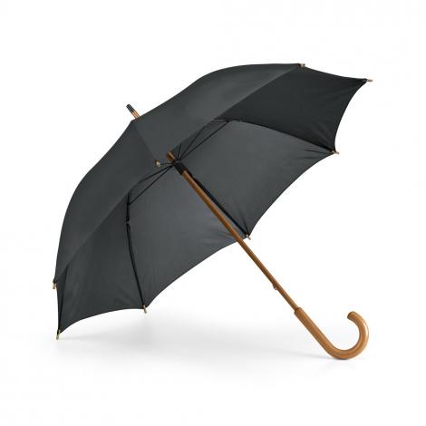 Parapluie publicitaire avec manche et poignée en bois