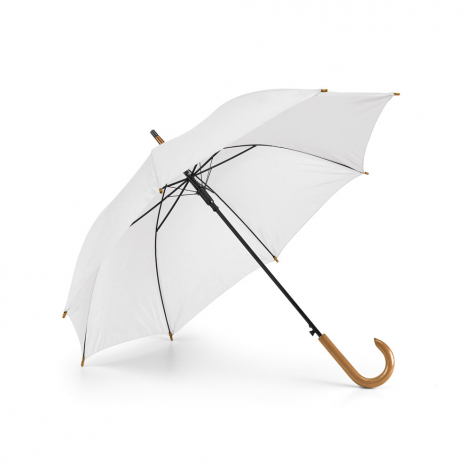 Parapluie publicitaire avec poignée en bois