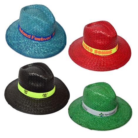 Chapeau de paille personnalisée - INDIANA COLORES
