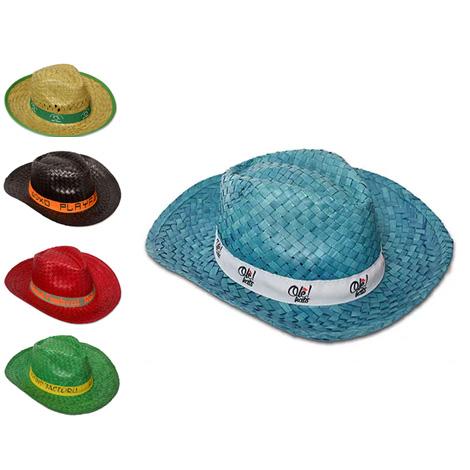 Chapeau de paille personnalisable - BASSIC COLORES
