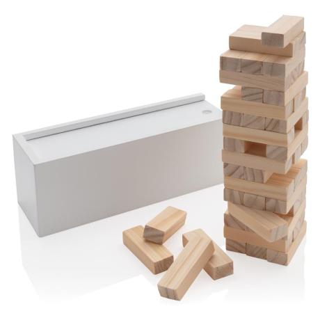 Jeu de blocs publicitaire en bois