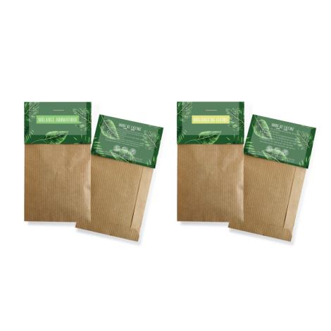 Sachet de graines Kraft sans marquage