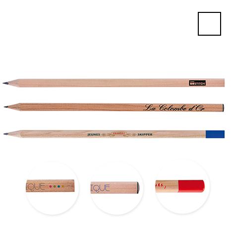 Crayon publicitaire carré vernis incolore - 17.6 cm