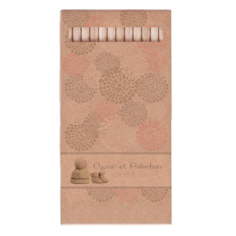 Set 6 ou 12 crayons aquarelle 17,6 cm - Eco sans vernis