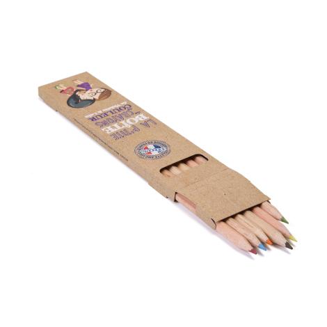 Etui publicitaire 6 ou 12 crayons sans vernis 17.6 cm