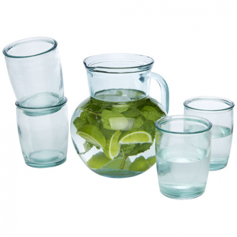 Pichet et verres recyclés publicitaires Terazza