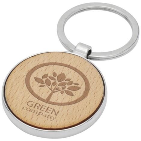 Porte-clés personnalisable bois de hêtre Moreno