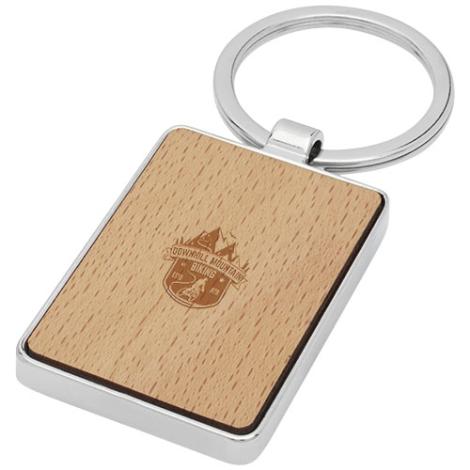 Porte-clés publicitaire bois de hêtre Mauro