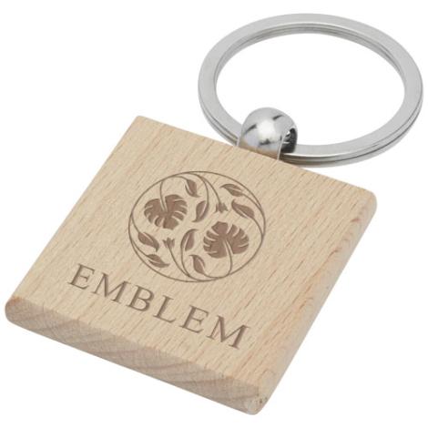 Porte-clés personnalisé bois de hêtre Gioia