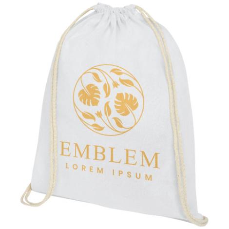 Gym bag publicitaire en coton 140 gr Oregon