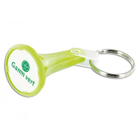 Porte-clés avec un jeton, publicitaire