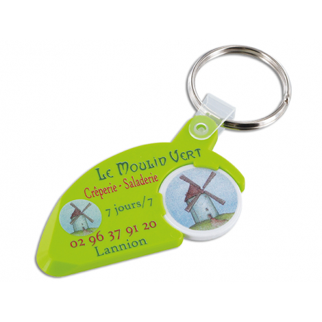 Porte-clés promotionnel avec jeton