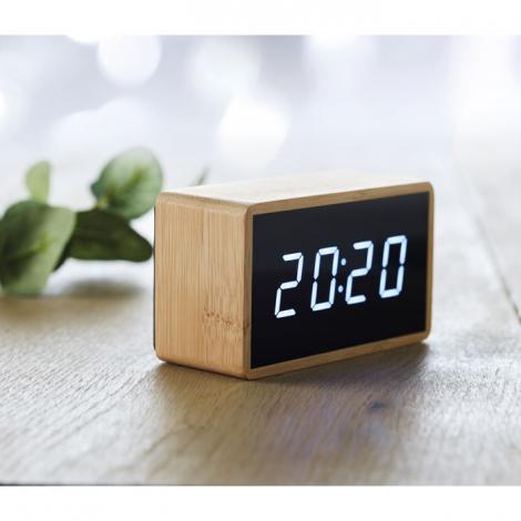 Réveil en bambou publicitaire MIRI CLOCK