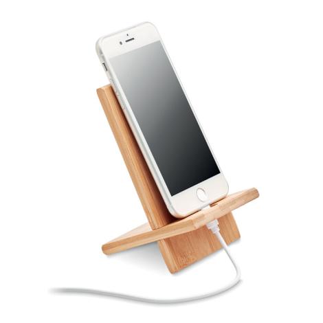 Support smartphone en bambou personnalisé WHIPPY