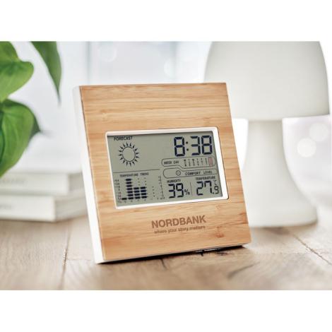 Station météo personnalisée en bambou TURKU
