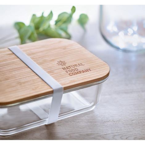 Lunchbox en verre et bambou promotionnelle TUNDRA