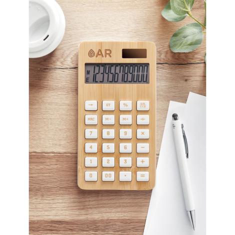 Calculatrice publicitaire bambou CALCUBIM
