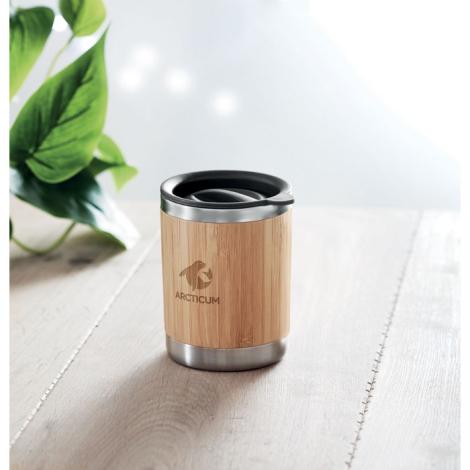 Mug en bambou publicitaire isotherme 250 ml LOKKA