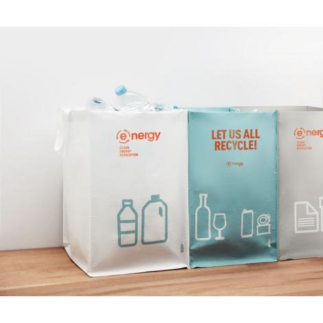 3 Sacs de tri recyclage publicitaires