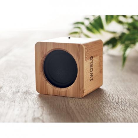 Mini enceinte en bambou personnalisée 3W AUDIO