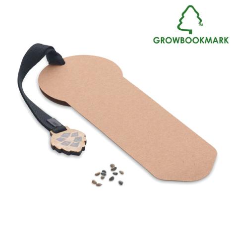 Marque page personnalisé graines de pin GROWBOOKMARK™