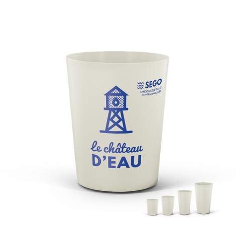 Gobelet réutilisable 120 ml personnalisable - BIO