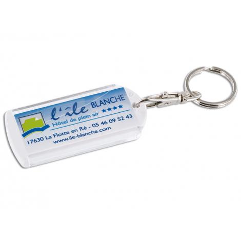 Porte-clés publicitaire avec anneau