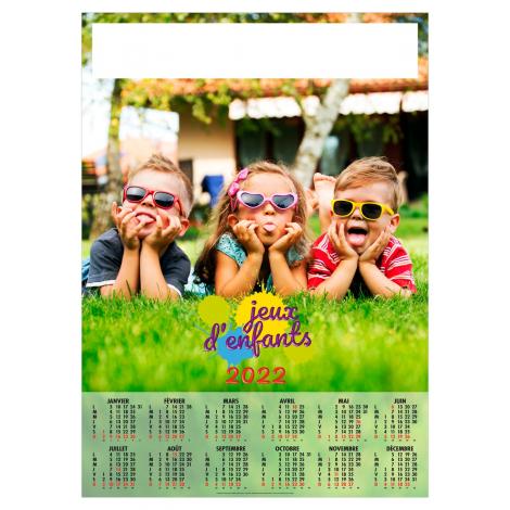 Calendrier poster publicitaire - 12 mois