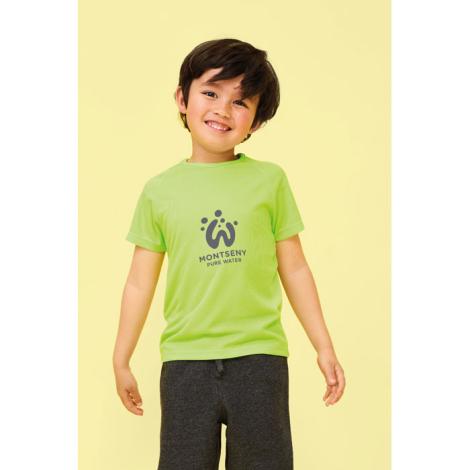 Tshirt enfant respirant publicitaire polyester 140 g SPORTY