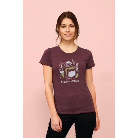 T-shirt coton 150 g personnalisé femme REGENT FIT