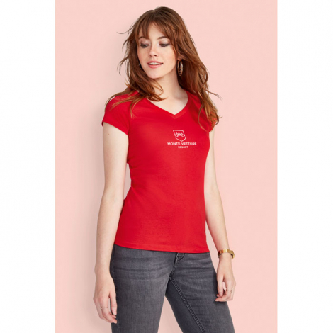 Tshirt col V publicitaire femme 150 g MOON