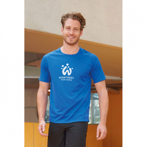 Tshirt respirant publicitaire homme polyester 140 g SPORTY