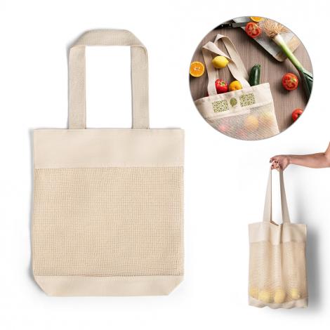 Tote bag filet en coton personnalisé MUMBAI