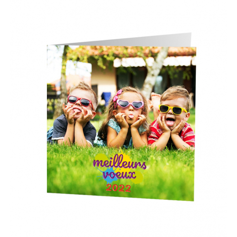 Carte de voeux publicitaire - Enfants du Monde