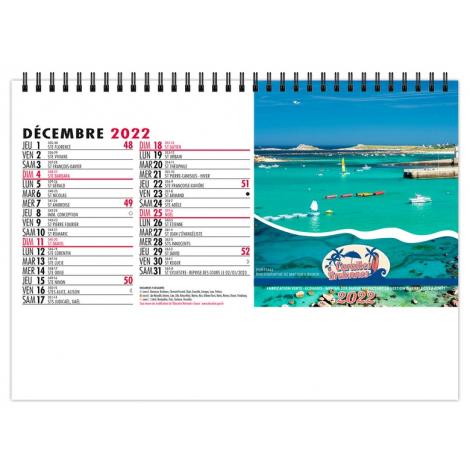 Chevalet publicitaire standard 7 feuillets - Caraïbes bretonnes