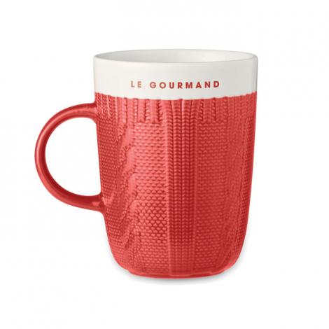 Mug tricoté en céramique personnalisé 310 ml KNITTY